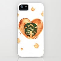 Starbucks...Love Coffee Stain iPhone & iPod Case by Kate