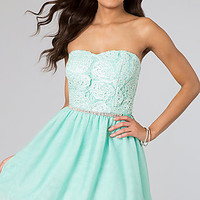 Short Strapless Sweetheart Bodice Cocktail Dress by As U Wish