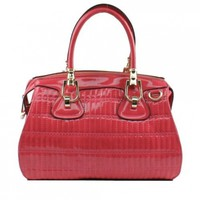 Scarleton Quilted Patent Satchel H1071