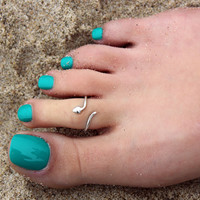 sterling silver toe ring Snake design toe ring adjustable toe ring (T-09)