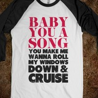 Baby You a Song (Baseball tee) - Country is Where It's at