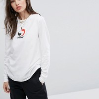 Stussy Long Sleeve Skate Top With 2 Tone Print at asos.com
