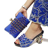 Newest Shoes And Bag Sets For Women Design Shoes With Matching Bags For Women Shoes And Bag Set For Party
