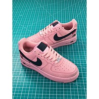Supreme X The North Face Tnf X Nike Air Force 1 Af1 Low Pink Black Shoes