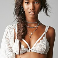 Sheer Lace Strappy Bralette