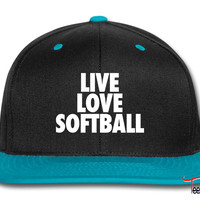 Live Love Softball Snapback