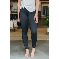 Highwaist Mesh Pocket Leggings - 2 Tone