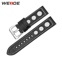 Luxury Watches Genuine Leather Watch Strap For Men Black White Color Buckle High Quality Watch Bands