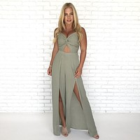 Set Apart Olive Jumpsuit
