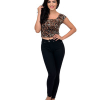 Black High Waisted Stretch Skinny Jeans