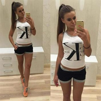 Shorts Hot Sale Stylish Alphabet Women's Fashion Set [103807254540]