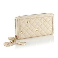 Floozie by Frost French Cream Large Quilted Heart Stud Purse - Purses - Handbags & purses - Women - Debenhams Mobile