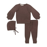 Teela Toffee Cable Baby Set