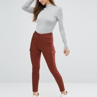 ASOS Utility Skinny Trousers with Patch Pockets at asos.com
