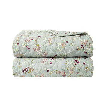 Blossom Quilted Coverlet by Yves Delorme