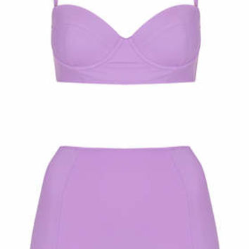 LILAC BASIC HIGH WAISTED BIKINI