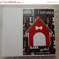 SALE 6x6 Dog Scrapbook Photo Album