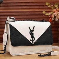 YSL Yves Saint Laurent Women Fashion Leather Satchel Shoulder Bag Handbag