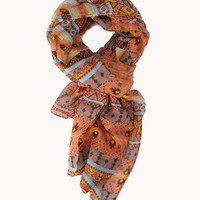Multi-Colored Tribal Print Scarf | FOREVER 21 - 1061466072