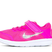Girls' Nike Flex 2016 - Crystallized Swarovski Swoosh - Infant/Toddler (2c-10c) - Pink