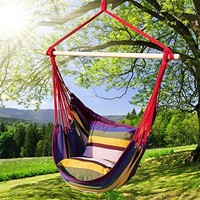 Hanging Rope Hammock Chair Porch Swing- Max. 275 Lbs