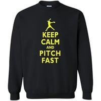 Keep Calm and Pitch Fast Fast Pitch Softball T-shirt