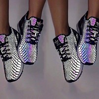 ADIDAS Rainbow Chameleon Glowing Night Sky Sports Shoes