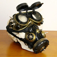 Full Face Respirator Gas Mask with Goggles