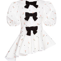 Long Floral Bow Top | Moda Operandi