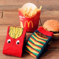 Hamburger & French Fries Unisex Socks Set (2 pairs)