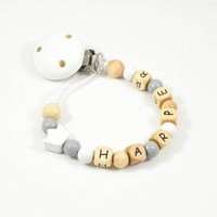 Organic Personalized Pacifier Clip