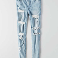 AEO Sateen X Hi-Rise Jegging, Light Bright Indigo