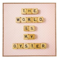 DENY Designs 'Happee Monkee - The World Is My Oyster' Wall Art