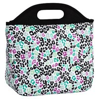 Gear-Up Black Multi Cheetah Tote Lunch