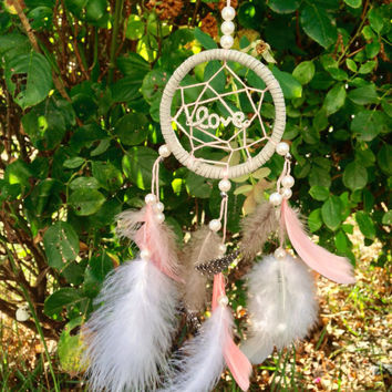 "Love 3"" car accesory Dream catcher car charm"