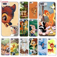 Lavaza Sika deer Bambi Hard Coque Shell Phone Case for Apple iPhone 8 7 6 6S Plus X 10 5 5S SE 5C 4 4S Cover