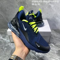HCXX N1352 Nike Air Max 270 breathable Running Shoes Blue Green