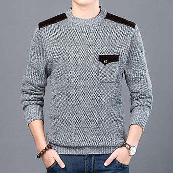 Fashion Sweater For Mens Pullovers Slim Fit Jumpers Knitwear O-Neck Style Casual Clothing Male