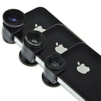 Amazon.com: EarlyBirdSavings Blue 3 in 1 Fish Eye Lens, Wide Angle, Macro Lens Photo Kit Set for Iphone 4,4S: Cell Phones & Accessories