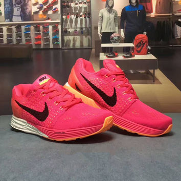 """""""NIKE"""" Fashion Casual Multicolor Knit Breathable Fly Line Women Sneakers Running Shoes"""
