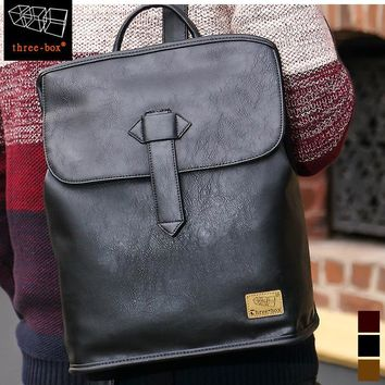 On Sale Stylish Casual Back To School Comfort Hot Deal College Korean Box England Style Vintage Backpack [47754936332]