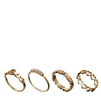 ASOS Love Midi Ring Pack
