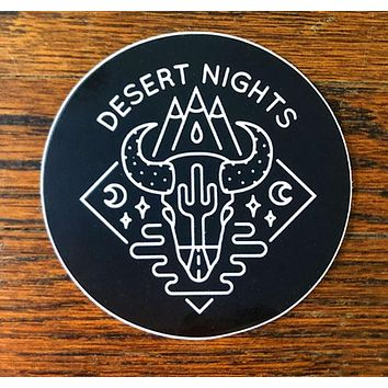 Desert Nights - All weather vinyl sticker