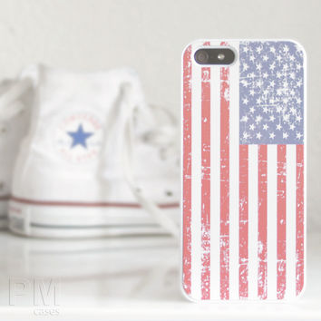 Grunge USA Flag Case Cover for Apple iPhone 4 4s 5 5s 5c 6 6s SE Plus & iPod Touch