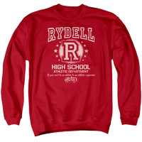 GREASE/RYDELL HIGH - ADULT CREWNECK SWEATSHIRT - RED -