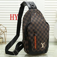 Louis Vuitton LV Woman Men Fashion Leather Waist Bag Single Shoulder Bag Satchel