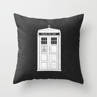 DOCTOR WHO Throw Pillow by John Medbury (LAZY J Studios)