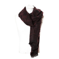 TWO-TONE PATTERNED SCARF