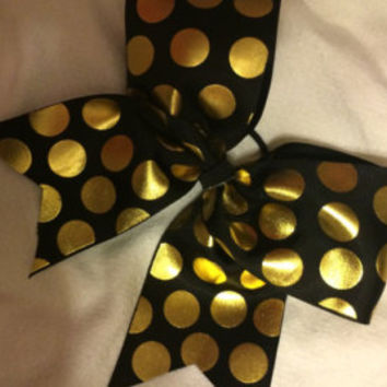 Cute black and white big cheer bow!
