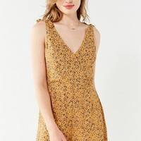 UO Sally Surplice Romper | Urban Outfitters